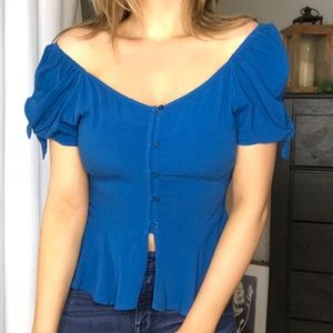 Band of Gypsies X Revolve Off-Shoulder Peasant Top